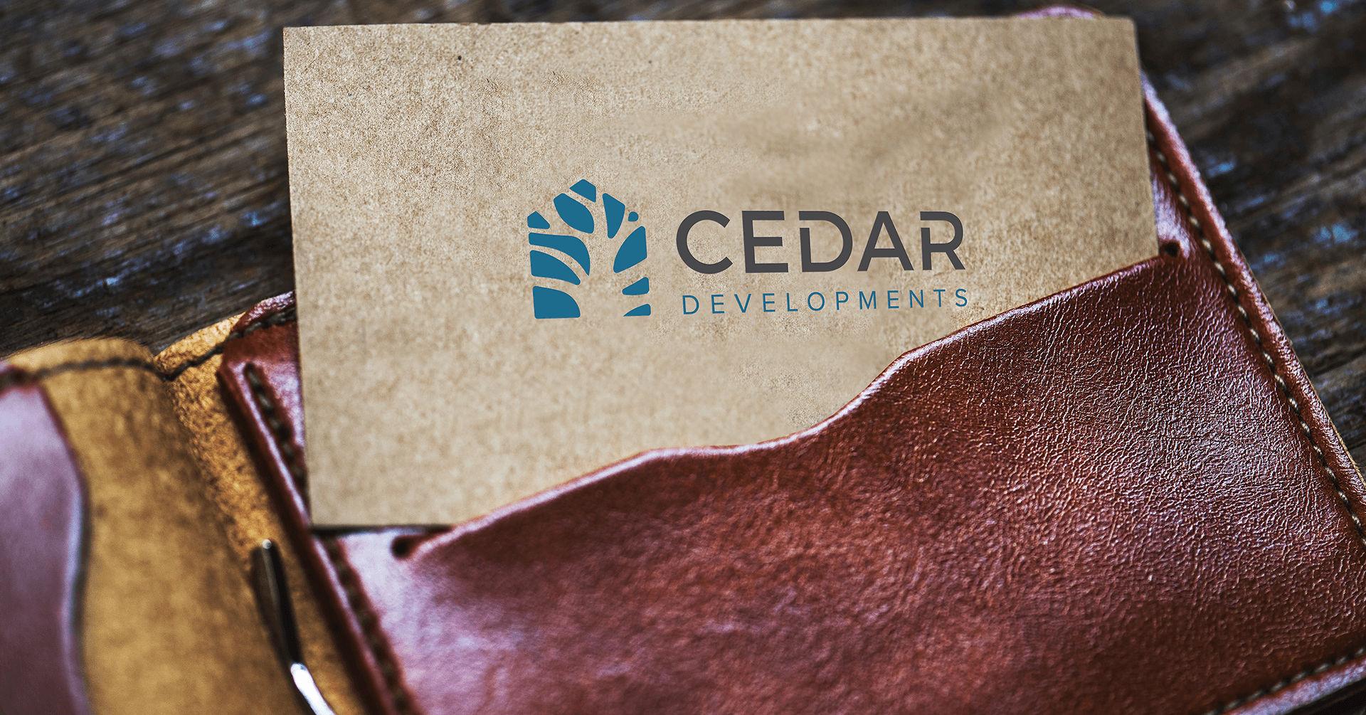 Cedar Developments Card - iDesign Branding