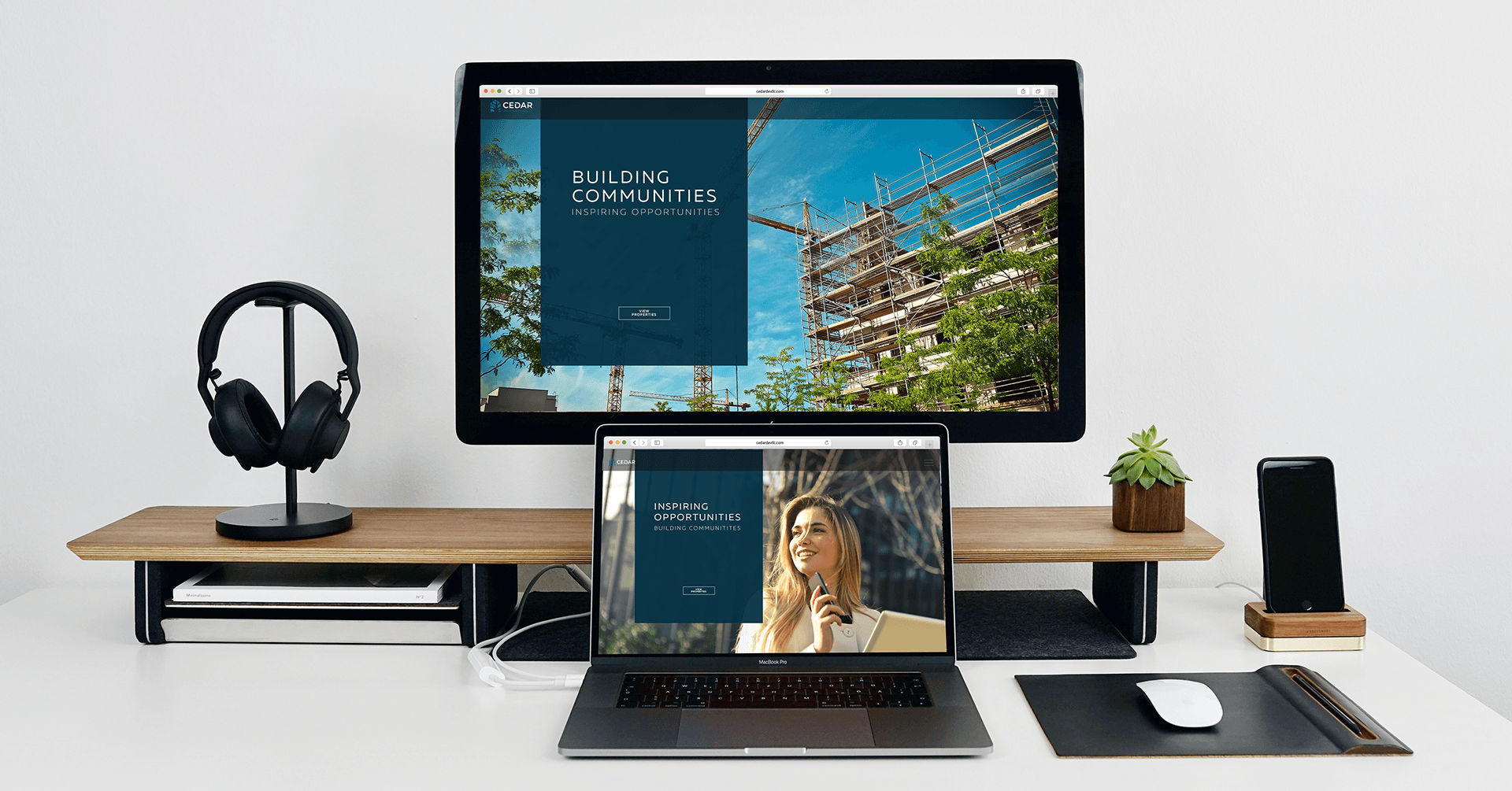 Cedar Developments Website - iDesign Branding